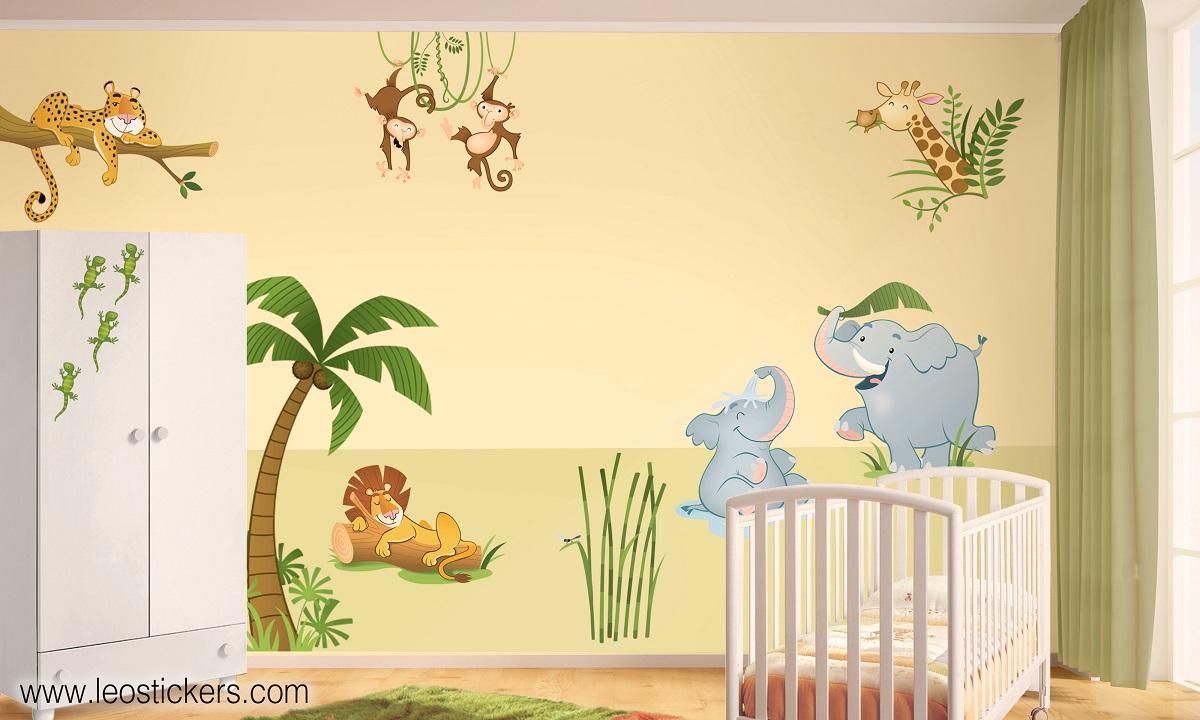 Piccola fontana bambou for Idee pareti cameretta neonato
