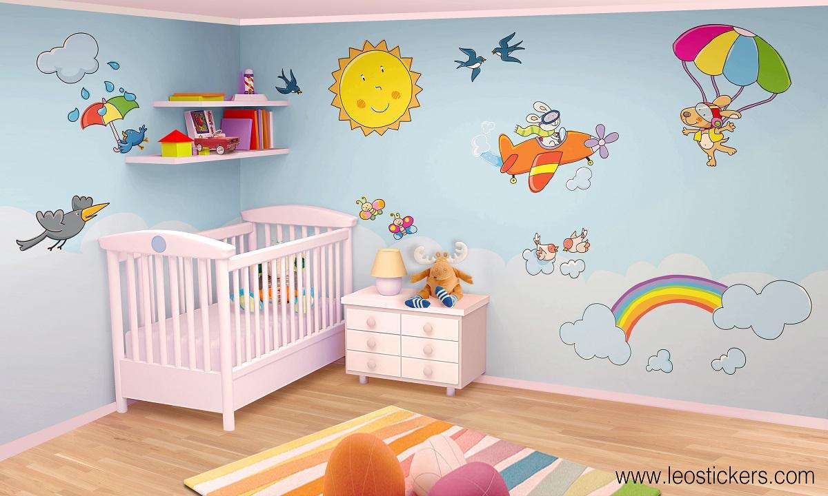 Adesivi murali per camere ragazze - Decorazioni murali per camerette bambini ...