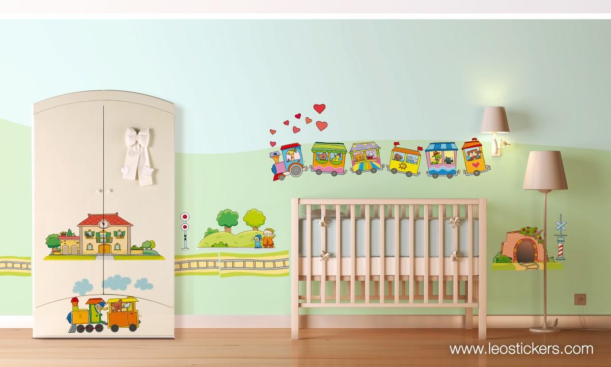 Stickers per cameretta bambina affordable disegno idea for Parete cameretta bambina