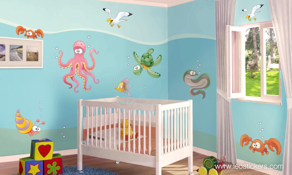 Decorare pareti cameretta bambini - Idee camera neonato ...