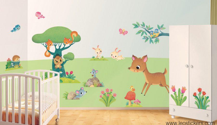 Camerette bellissime 30 foto di camerette da sogno per for Adesivi murali x bambini