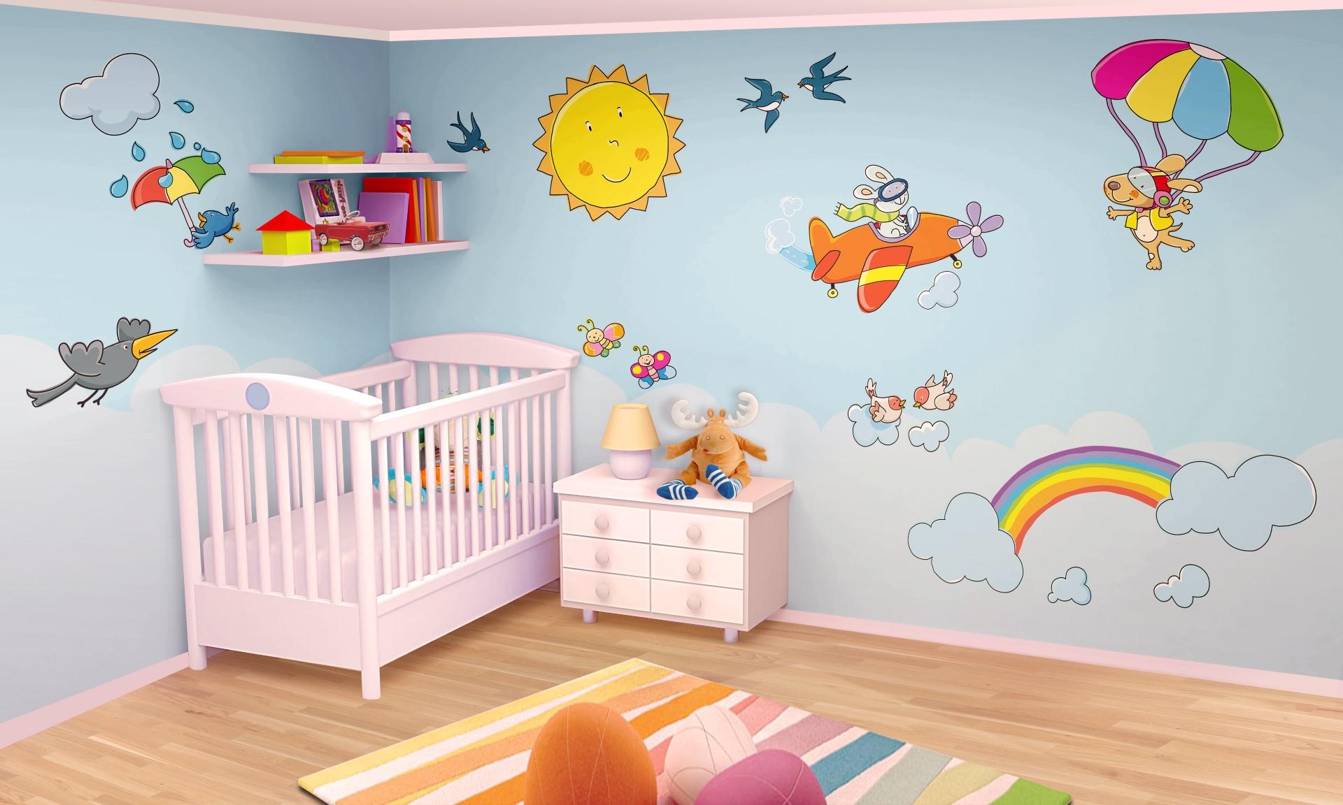 10 idee per la cameretta di un bambino foto video e ispirazioni - Adesivi per cameretta bambini ...