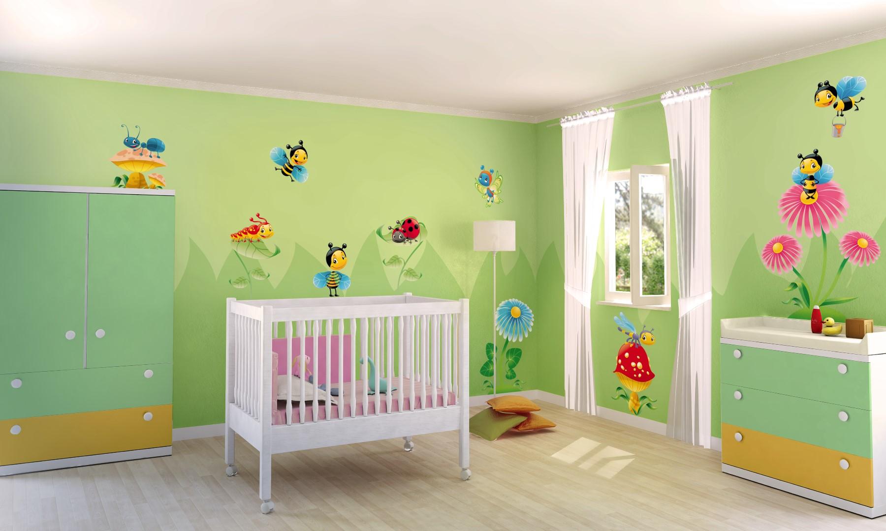 Quale colore per le pareti della cameretta dei bambini i for Idee pareti cameretta neonato