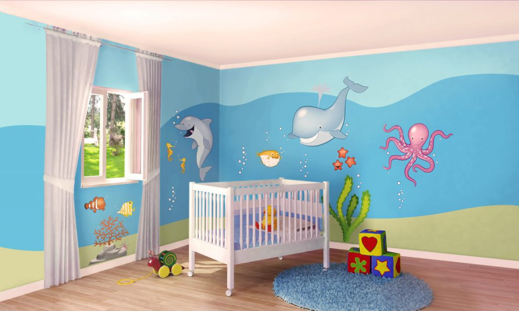 Quale colore per le pareti della cameretta dei bambini i - Idee camera neonato ...