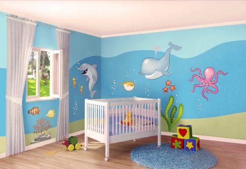 10 idee per la cameretta di un bambino foto video e for Idee pareti cameretta neonato