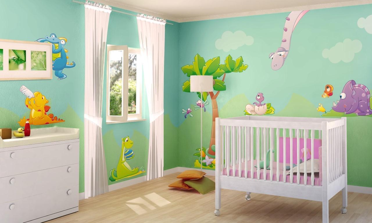 Cameretta a tema giungla come trasformare una semplice for Decorare una stanza per bambini