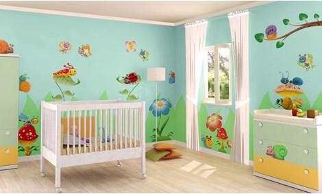 Adesivi murali neonati stickers e decorazioni leostickers - Decorazioni camerette bambini immagini ...