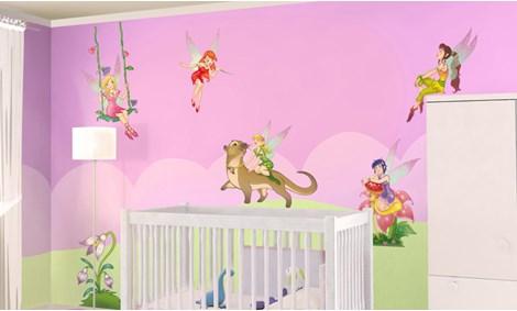 Adesivi murali fatine stickers e decorazioni leostickers - Decorazioni murali camerette ...