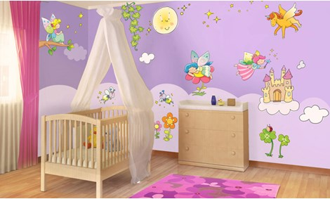 Adesivi murali fatine stickers e decorazioni leostickers - Decorazioni murali bambini ...