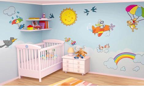 Adesivi murali arcobaleno stickers e decorazioni - Decorazioni camerette bambini immagini ...