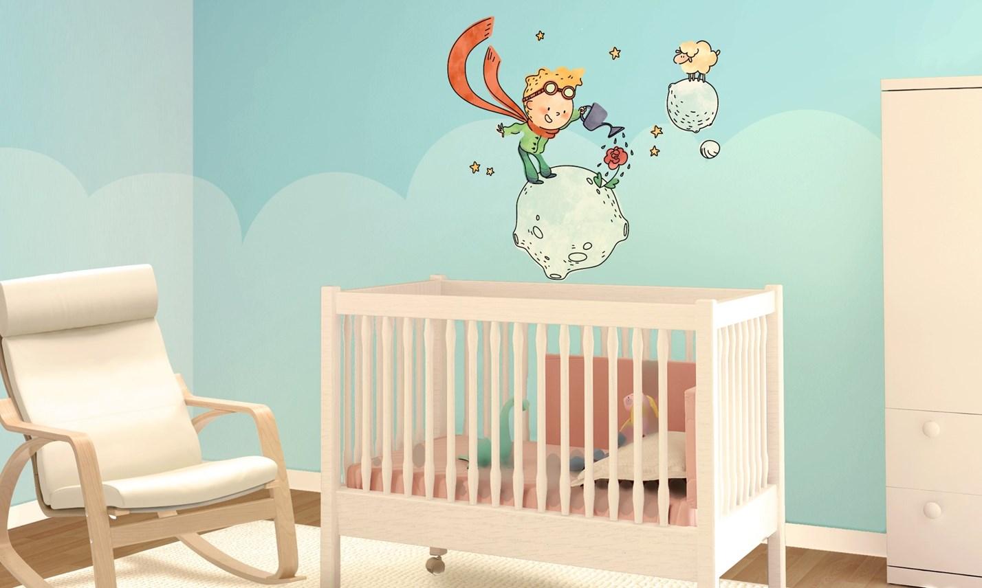 Stickers murali bambini cameretta il piccolo principe - Decorazioni murali per camerette bambini ...