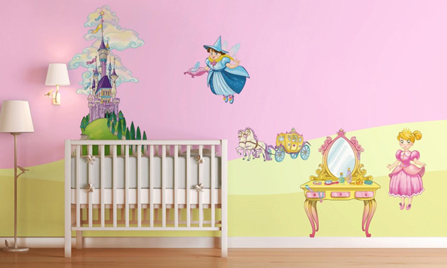 Stickers murali bambini cameretta il regno delle principesse leostickers - Adesivi per mobili bambini ...