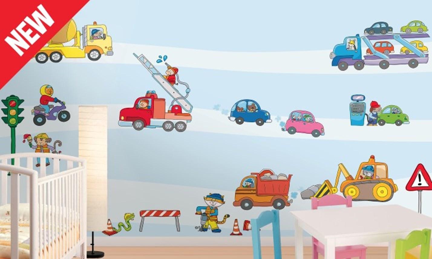 Stickers murali bambini cameretta macchine e motori - Adesivi per mobili bambini ...