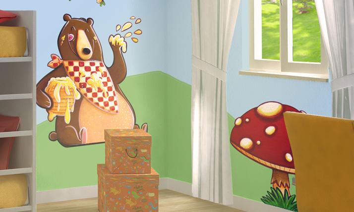 Stickers murali bambini nel bosco for Crea la tua cameretta
