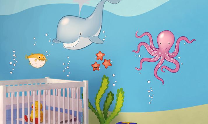 Stickers murali bambini in fondo al mare for Crea la tua cameretta