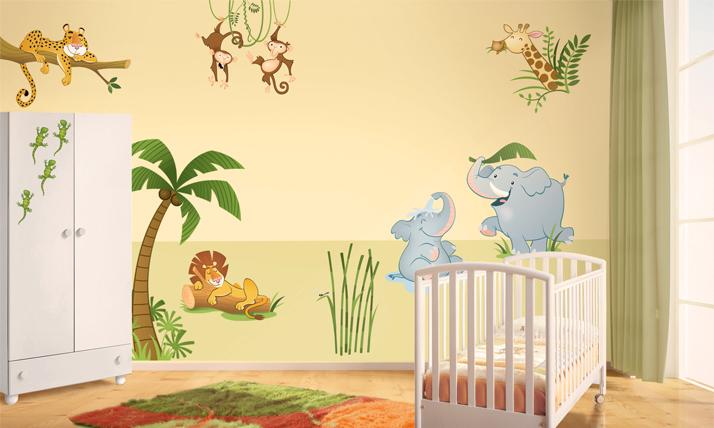 Stickers murali bambini nella giungla - Ikea stickers chambre ...