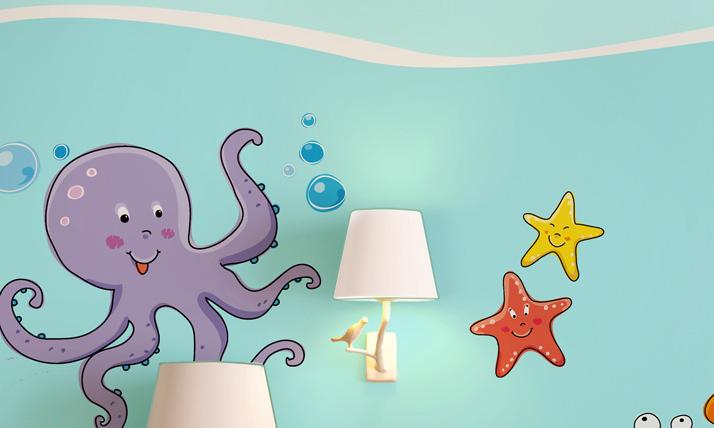 Stickers murali bambini tra i coralli for Crea la tua cameretta