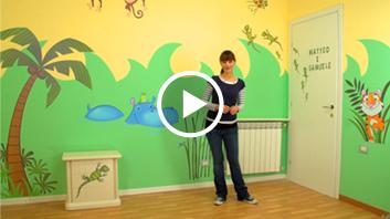 decorazioni camerette: idee per dipingere le pareti, video ... - Idee Pittura Murale Per La Camera Dei Bambini