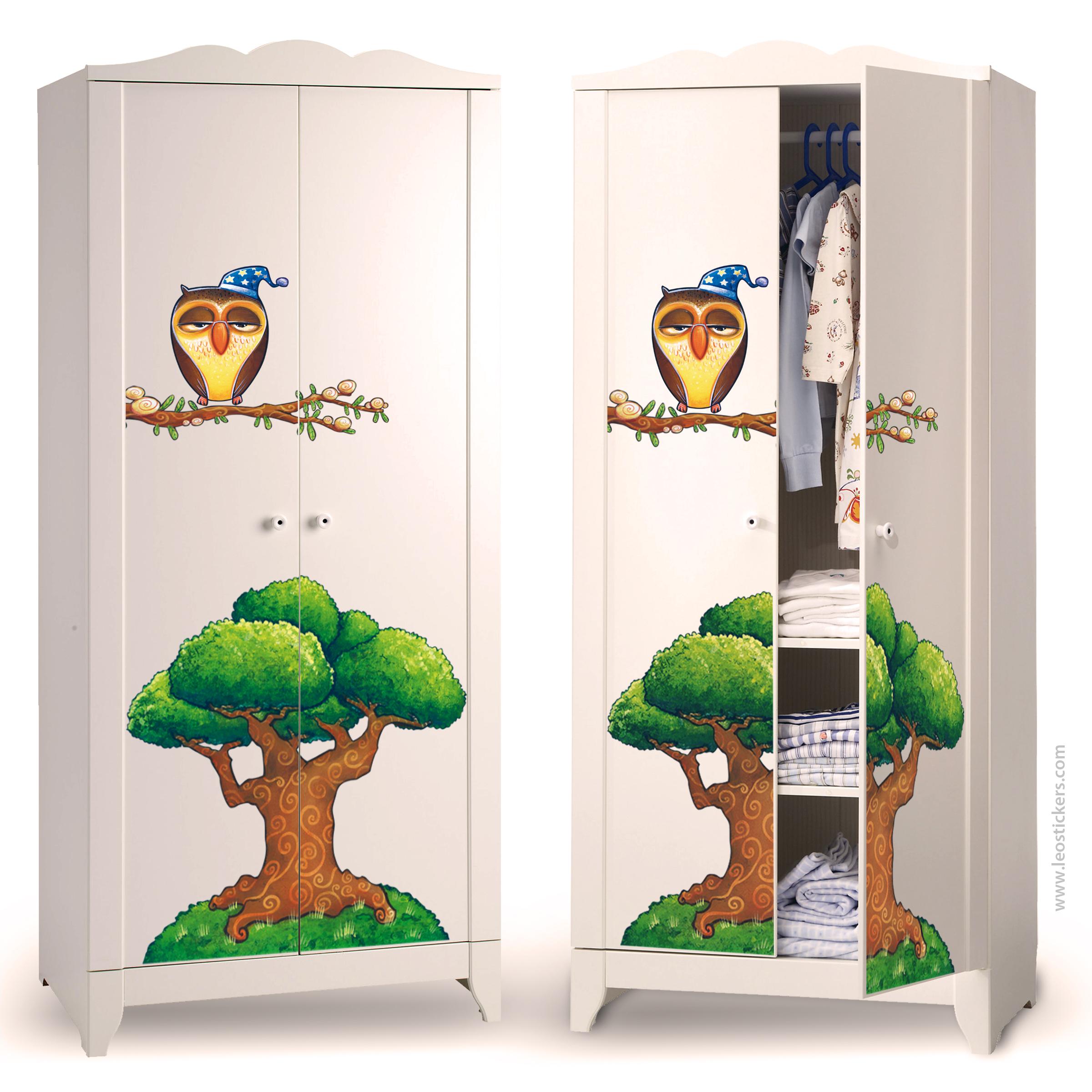 Adesivi per decorare i mobili dei bambini leostickers for Decorazioni camerette bambini