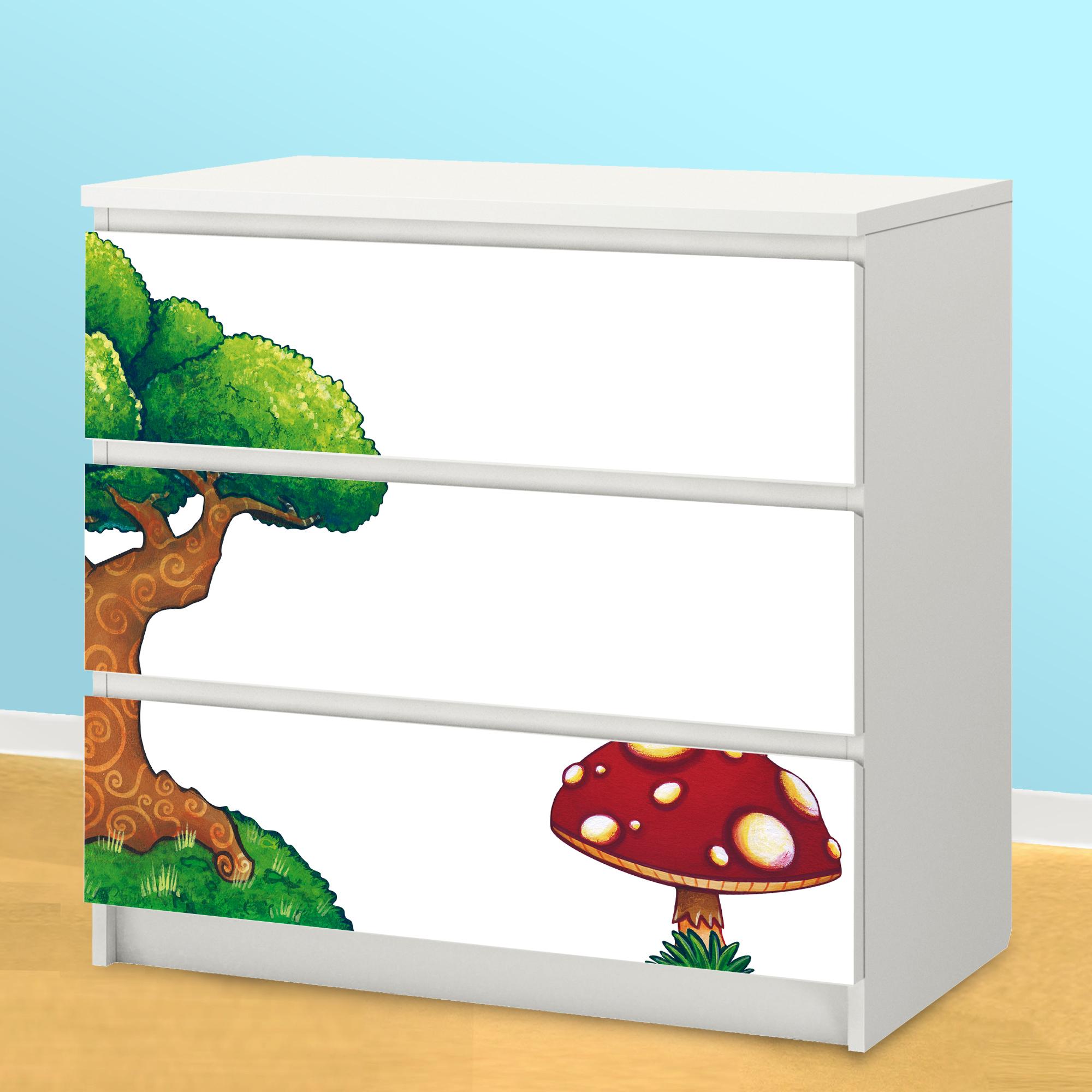 Decorazioni Adesive Per Ante Armadio.Adesivi Per Decorare I Mobili Dei Bambini Leostickers