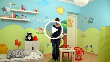 Idee Dipingere Cameretta Bambini : Decorazioni camerette: idee per dipingere le pareti video tutorial