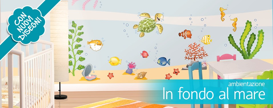 Adesivi murali per bambini stickers per camerette leostickers - Adesivi cameretta bimbo ...